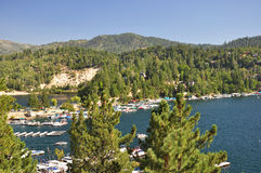 View of Lake Arrowhead Royalty Free Stock Images