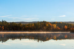 View of a lake in autumn Royalty Free Stock Photos