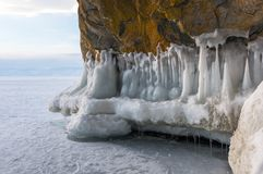 Lake Baikal in winter stock image