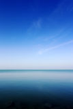 View of lake Balaton, blue sky and clean water stock photography
