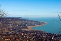View of lake Balaton in wintertime Stock Image