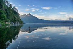 View of a Lake in Bali Royalty Free Stock Photo