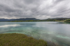 View of Lake Banyoles in Girona, Spain. Stock Images