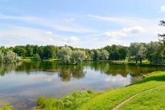 View of Lake Beloye in Gatchina park Stock Photo