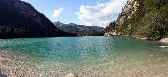 View from Lake Braies Stock Image