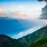 View of Lake Brienz Stock Photo