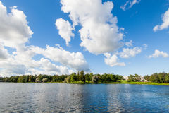 View of lake in Catherine royal park Royalty Free Stock Photos