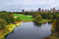 View of the lake in Central Park Royalty Free Stock Image