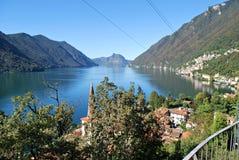 Lake Ceresio stock photography
