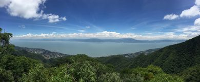 View from Lake Chapala from the Chupinaya point royalty free stock images