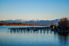 View of lake Chiemsee in Germany Royalty Free Stock Photography
