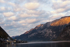 View of the lake and the city of Hallstatt Stock Images