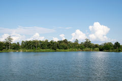 View of Lake and clouds blue sky Stock Photography