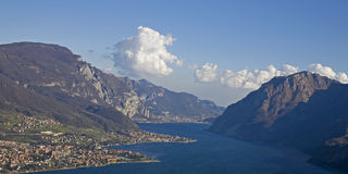 View at Lake Como Stock Image