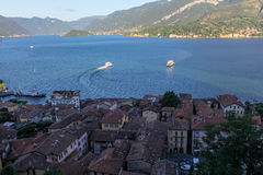 View of Lake Como and Bellagio Town Stock Images