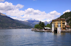 View of Lake Como from Bellagio waterfront Stock Photography