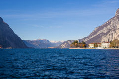 View of the lake Como from Lecco, Italy Royalty Free Stock Photos