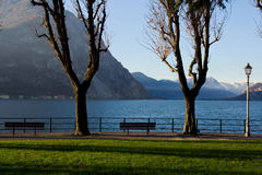 View of the lake Como from Lecco, Italy Stock Photos