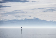 View from lake constance into swiss alps Royalty Free Stock Photography