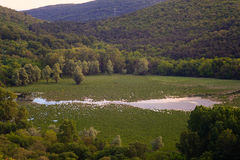 View of lake Doberdo Stock Photography