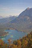 View at lake Eibsee Stock Images