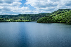 View of the lake of Esch Sur Sure. In Luxembourg Stock Photos