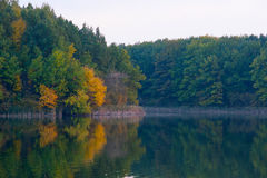 View of the lake in the fall. Stock Photo