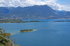 View on the lake Garda and the Alpes. Royalty Free Stock Photography