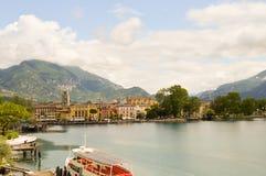 View of Lake Garda and the city of Riva del Garda Royalty Free Stock Photos