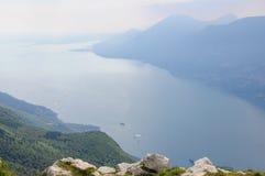 View of Lake Garda from Italian Alps - Monte Baldo Stock Image