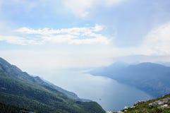 View of Lake Garda from Italian Alps - Monte Baldo Royalty Free Stock Images