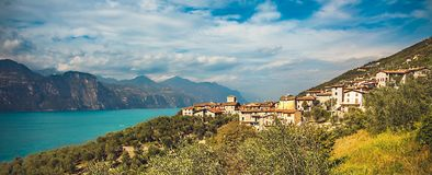 View of Lake Garda. In Italy Stock Photography