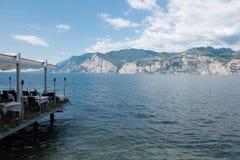 View on lake garda from malcesine Stock Image