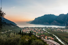 View of the Lake Garda Stock Photography