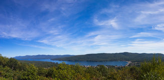 View of Lake George stock image