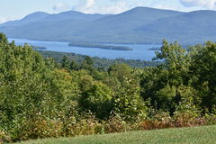 View of Lake George, from Prospect Mountain, in New York. (USA Stock Photos