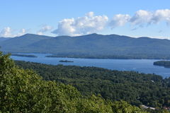 View of Lake George, from Prospect Mountain, in New York. (USA Royalty Free Stock Images