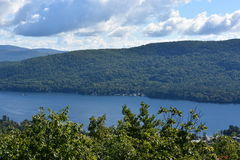 View of Lake George, from Prospect Mountain, in New York. (USA Stock Photo