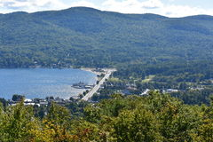 View of Lake George, from Prospect Mountain, in New York. (USA Royalty Free Stock Photos