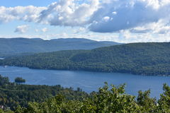 View of Lake George, from Prospect Mountain, in New York. (USA Royalty Free Stock Photography