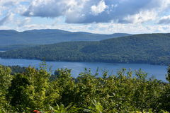 View of Lake George, from Prospect Mountain, in New York. (USA Stock Images