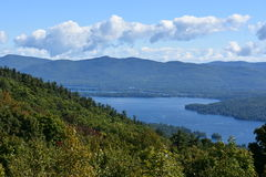 View of Lake George, from Prospect Mountain, in New York. (USA Stock Photography