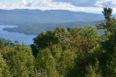 View of Lake George, from Prospect Mountain, in New York. (USA Royalty Free Stock Photo