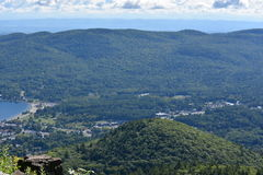 View of Lake George, from Prospect Mountain, in New York. (USA Stock Image