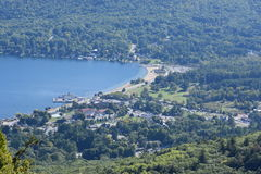 View of Lake George, from Prospect Mountain, in New York. (USA Royalty Free Stock Image