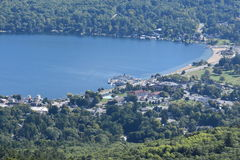 View of Lake George, from Prospect Mountain, in New York Stock Photos
