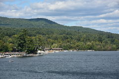 View of Lake George from the Village, in New York State Stock Photos