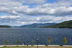 View of Lake George from the Village, in New York State Stock Image