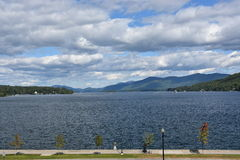 View of Lake George from the Village, in New York State Stock Photography