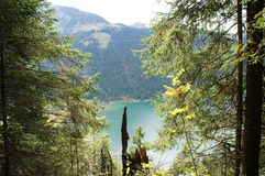 View on the Lake Haldensee in Tyrol Stock Photo